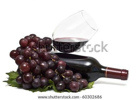 Still life about red wine.