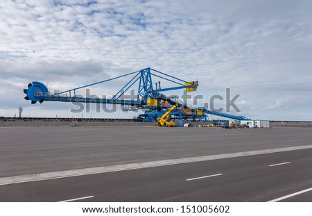 Still-life. Engineering and technical equipment - bucket wheel excavator. - stock photo