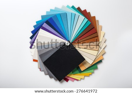 Still Life Image Color Swatch Book Stock Photo (Download Now ...