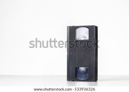 still life image of a video cassette tape