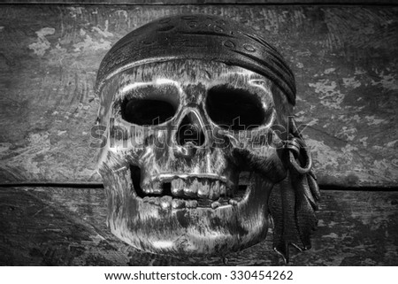 Still life Mask skull, Halloween background