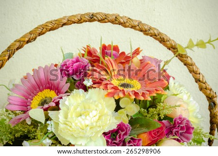 Still life of Bunch of flowers - stock photo