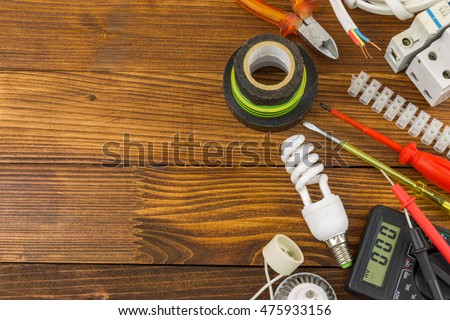 Still life electrical components arranged on stock photo 312685271 still life of electrical components arranged on wooden work table greentooth Image collections