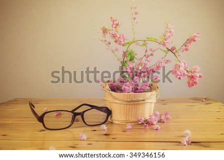 Still life of  flowers on table - stock photo