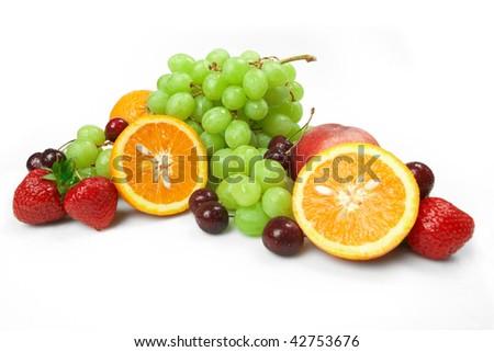 Still-life of fresh fruit - stock photo