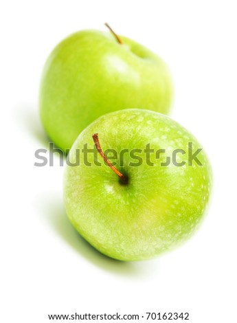 still life of fresh green apples