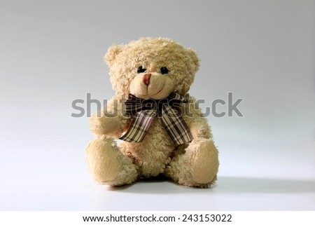 Still life of teddy bear - stock photo