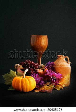 still life photo can be used for communion, religious based, and room for copy