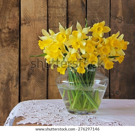 still life with a bouquet of narcissuses