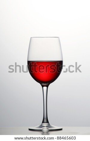 Still-life with glass of wine - stock photo