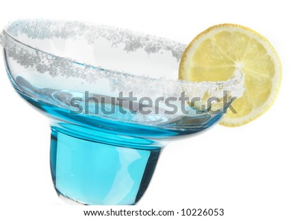 Still life with glass with drink on the white background