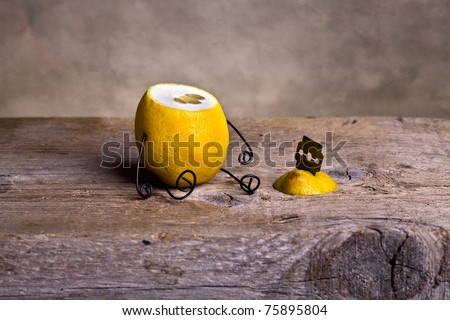 Still-Life with headless Lemon - Simple Things