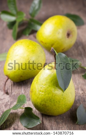 Still life with pears. - stock photo