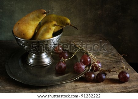 Still life with pears - stock photo