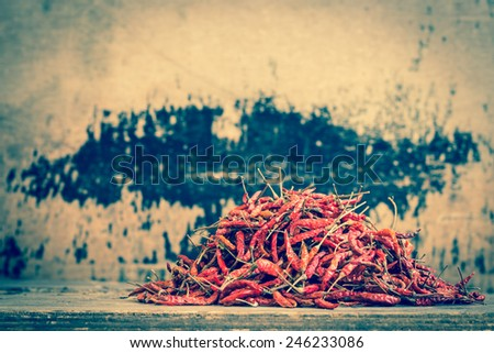 Still life with Red chili pepper - stock photo