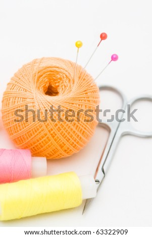 Still-life with sewing accessories - stock photo