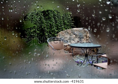 Still Raining - stock photo