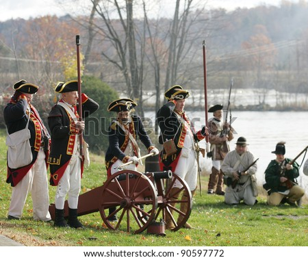British Soldiers American Revolution Firing