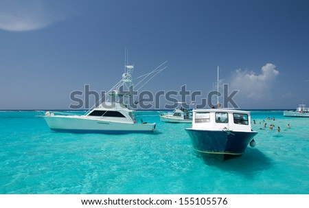 Stingray excursion, Grand Cayman, Caribeans - stock photo