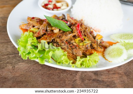 Stir Fried Duck with Roasted Chili Paste