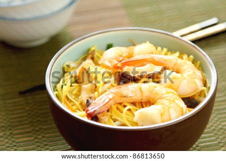 Stir fried Noodle with prawn
