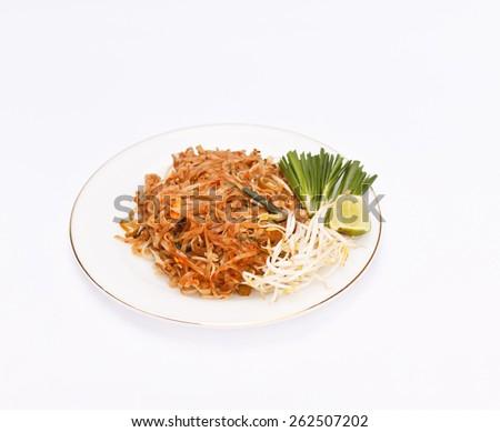 Stir fried noodles.(Pad Thai) - stock photo