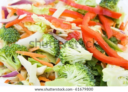 Stir fry with healthy vegetables.