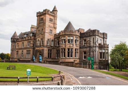 Stirling, Scotland - 11 May 2018: Airthrey Castle, University of Stirling, Scotland