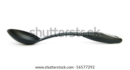Stirring spoon isolated on the white background - stock photo
