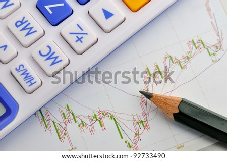 Stock chart analysis and calculation