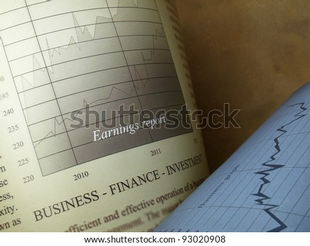 Stock charts (graph paper) - stock photo