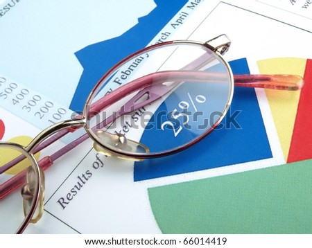 Stock charts (investment calculator) - stock photo