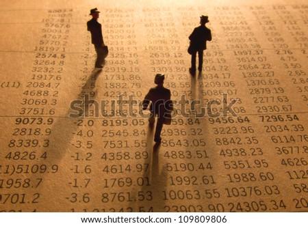 Stock data - stock photo