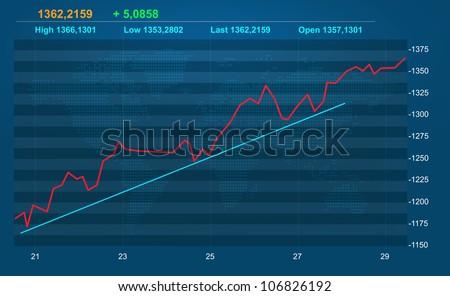 Stock diagram - stock photo