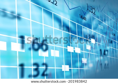 Stock exchange chart.  - stock photo