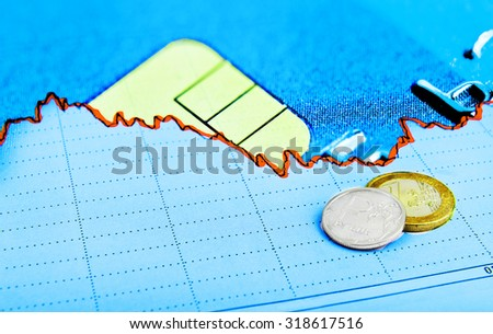 stock  exchange currency market concept - stock photo
