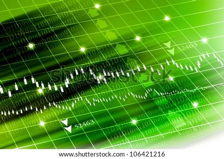 stock exchange graph - stock photo