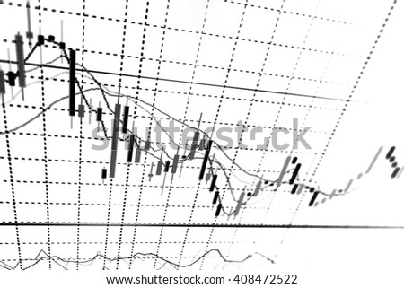 Stock exchange graph.Candle stick graph chart. Finance concept. - stock photo