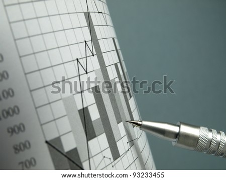 Stock Exchange (graph paper) - stock photo