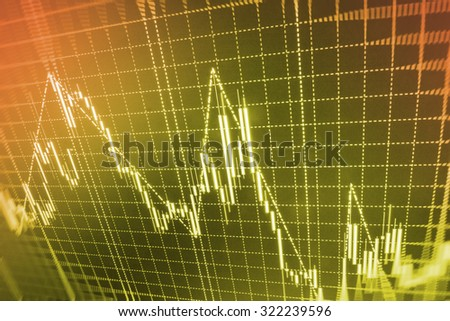 Stock exchange graph screen stock money financial ticker business concept corporate currency share wall graph investment bank trade digital interest economics market economy buy blue funds success   - stock photo