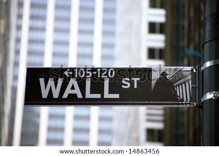 Stock Exchange in New YOrk, Wallstreet, USA - stock photo