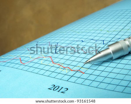 Stock Exchange (line graph)  - stock photo