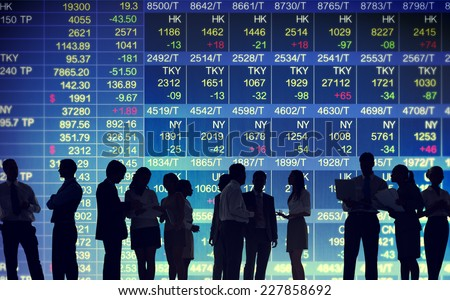 Stock Exchange Market Trading Concepts - stock photo
