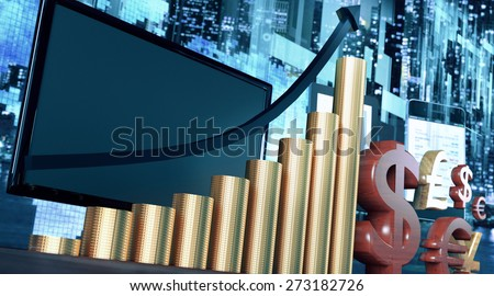 Stock exchange or business concept.  - stock photo