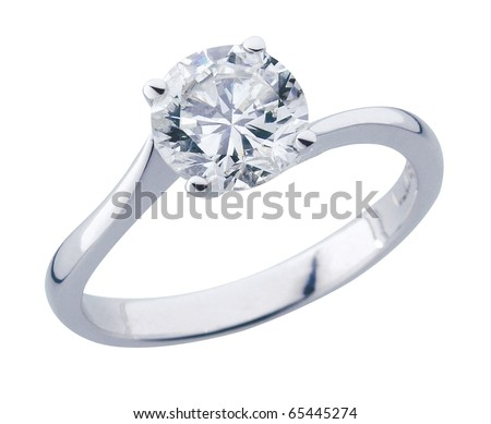 stock image diamond ring with clipping path - stock photo