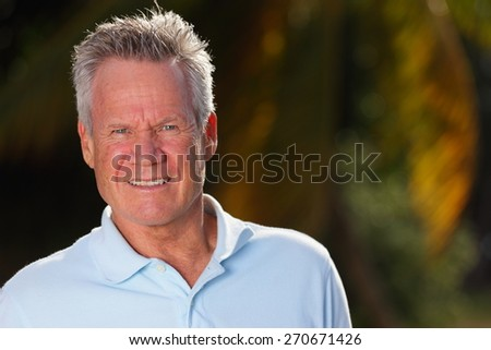Stock image handsome senior man smiling - stock photo