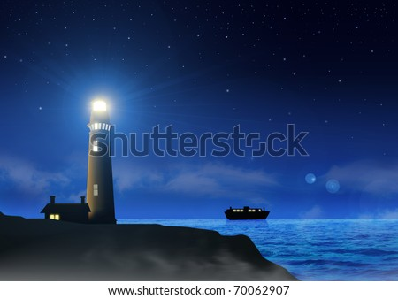 Stock image of a lighthouse - stock photo
