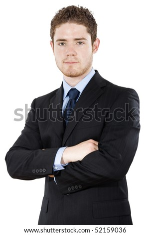 Stock image of businessman isolated on white background