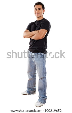 Stock image of casual man isolated on white background