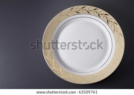 stock image of empty dinner plate design - stock photo